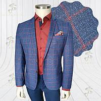 Чоловічий піджак синій в клітинку Soho 3
