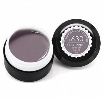 Гель-краска CANNI 630 светлая коричнево-серая, 5 ml