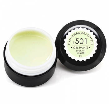 Гель-краска CANNI 501 светло-салатовая, 5 ml