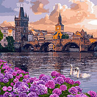 Картина по номерам Чарующий город 40 х 40 см ТМ Идейка КНО3580