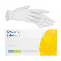 Перчатки Виниловые Medicom Safe Touch, Прозрачные размер L, 100 шт.