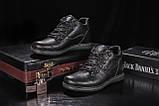 Clarks Мужские ботинки кожаные зимние черные. Мужские ботинки на шнуровке зима, фото 5