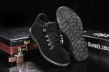 Сlarks Мужские ботинки замшевые зимние черные. Мужские ботинки на шнуровке зима, фото 3