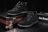 Сlarks Мужские ботинки замшевые зимние черные. Мужские ботинки на шнуровке зима, фото 4
