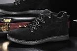 Сlarks Мужские ботинки замшевые зимние черные. Мужские ботинки на шнуровке зима, фото 5