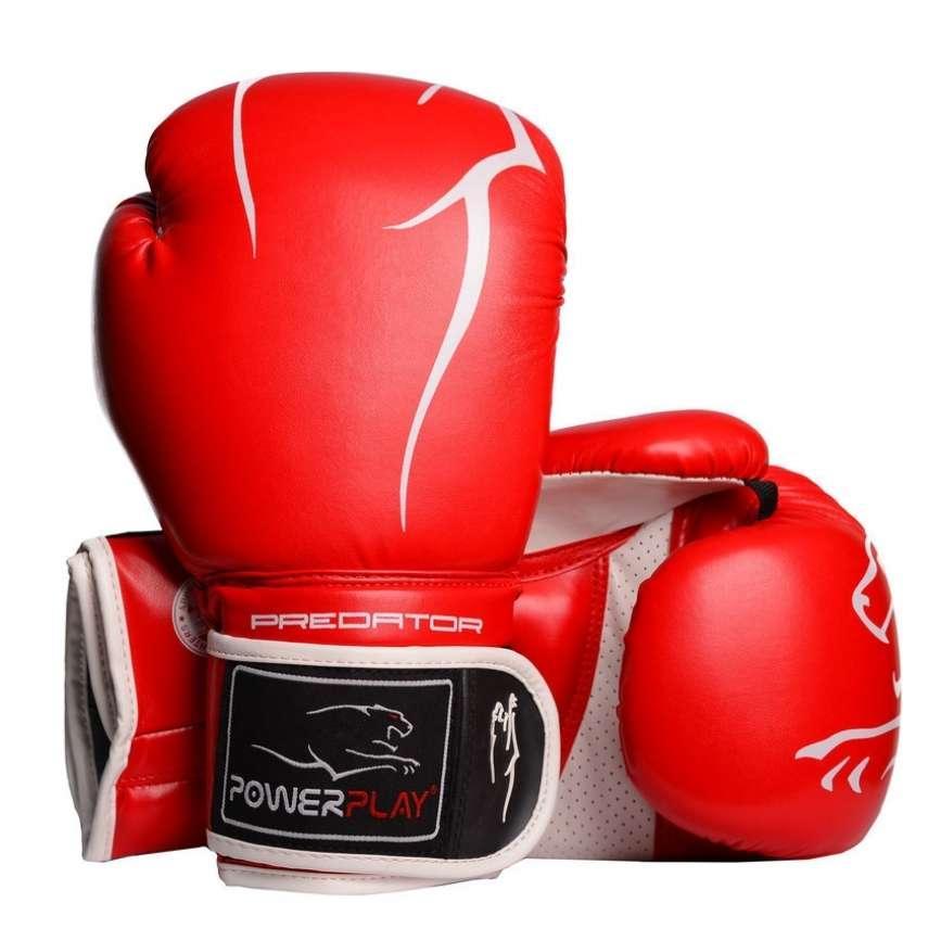 Боксерські рукавиці PowerPlay 3018 Червоні 10 унцій SKL24-144169