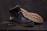 Riccone Мужские ботинки кожаные зимние черные. Мужские ботинки с мехом на шнуровке зима, фото 3