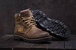 Riccone Мужские ботинки кожаные зимние оливковые. Мужские ботинки на меху со шнурками, фото 3