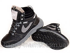 Детская зимняя обувь, ботинки для мальчика из натуральной кожи