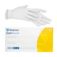 Перчатки Виниловые Medicom Safe Touch, Прозрачные размер M, 100 шт.