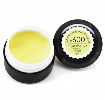 Гель-краска CANNI 600 пастельная желтая, 5 ml
