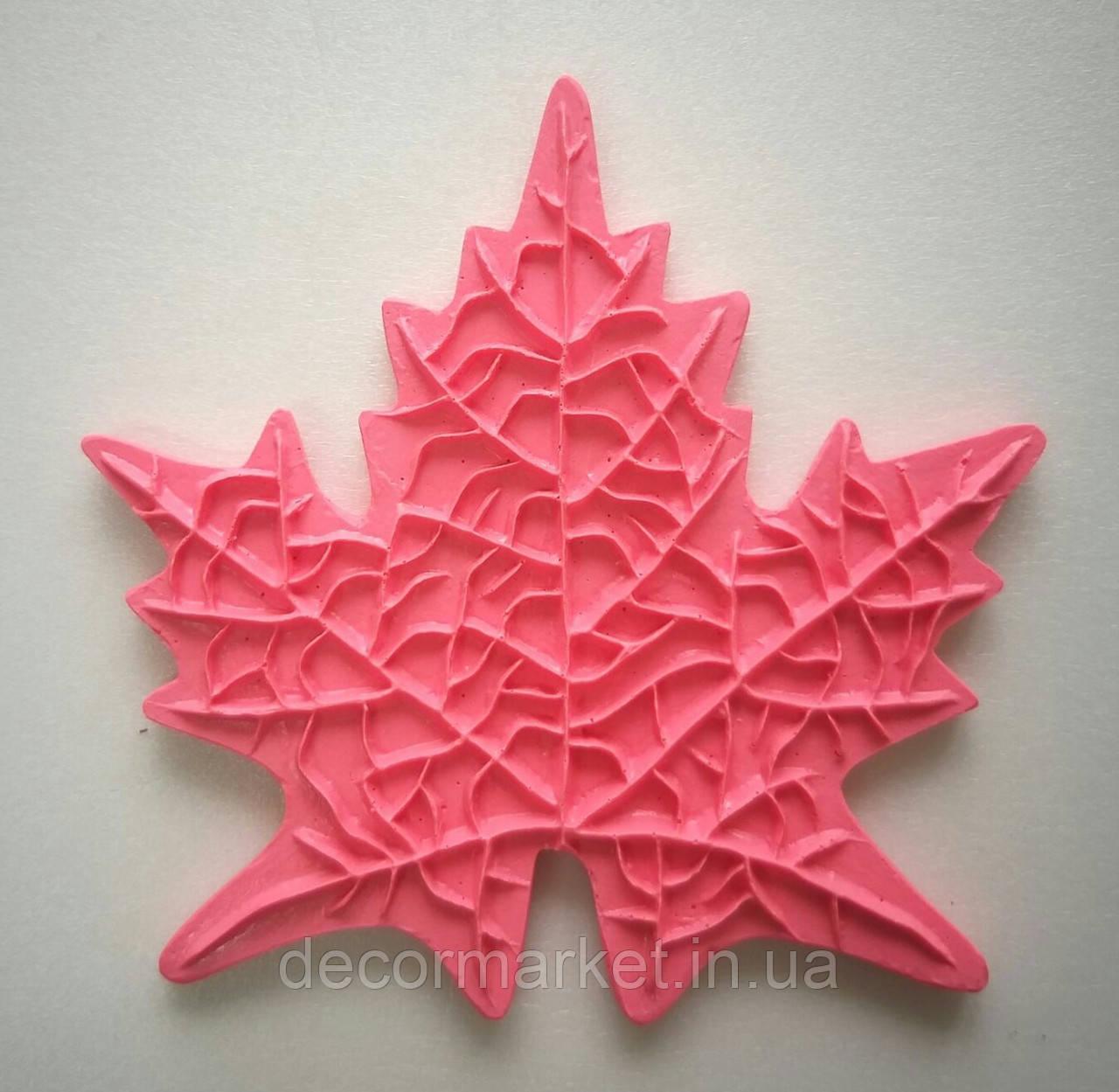 """Молд """"Лист Клена"""" 12,5х12,5 см для ростовых цветов"""