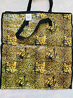 Сумка хозяйственная полипропиленовая лаковая №4 49*53*23 см 12 штук, фото 1