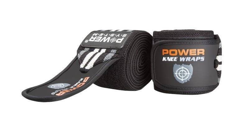 Бинты на колени Power System Knee Wraps Grey PS-3700 SKL24-190049