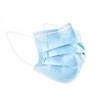 Маски медицинские голубые с фиксатором для носа, 50 шт