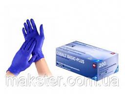 Перчатки нитриловые без пудры, 200 шт\уп  Cobalt Basic Plus Ampri