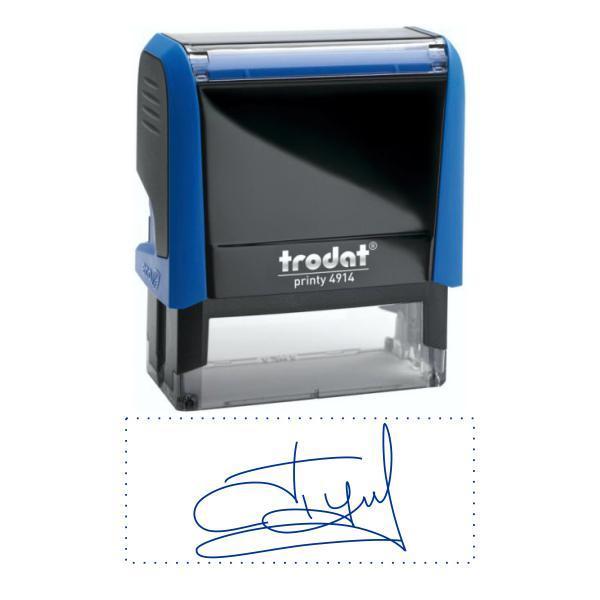 Факсимиле, подпись 64x26 мм с оснасткой Trodat 4914