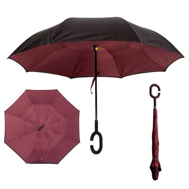 Зонт обратного сложения Up-Brella бордовый SKL11-187140
