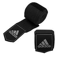 Боксерские бинты Adidas (черные, ADIBP031) из 100% слабо растягивающейся плетеной ленты без использования AZO