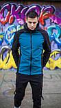 Мужская куртка Valeriyskaya stal' (черно-синяя), фото 2