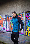 Мужская куртка Valeriyskaya stal' (черно-синяя), фото 3