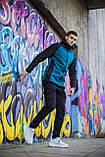 Мужская куртка Valeriyskaya stal' (черно-синяя), фото 5