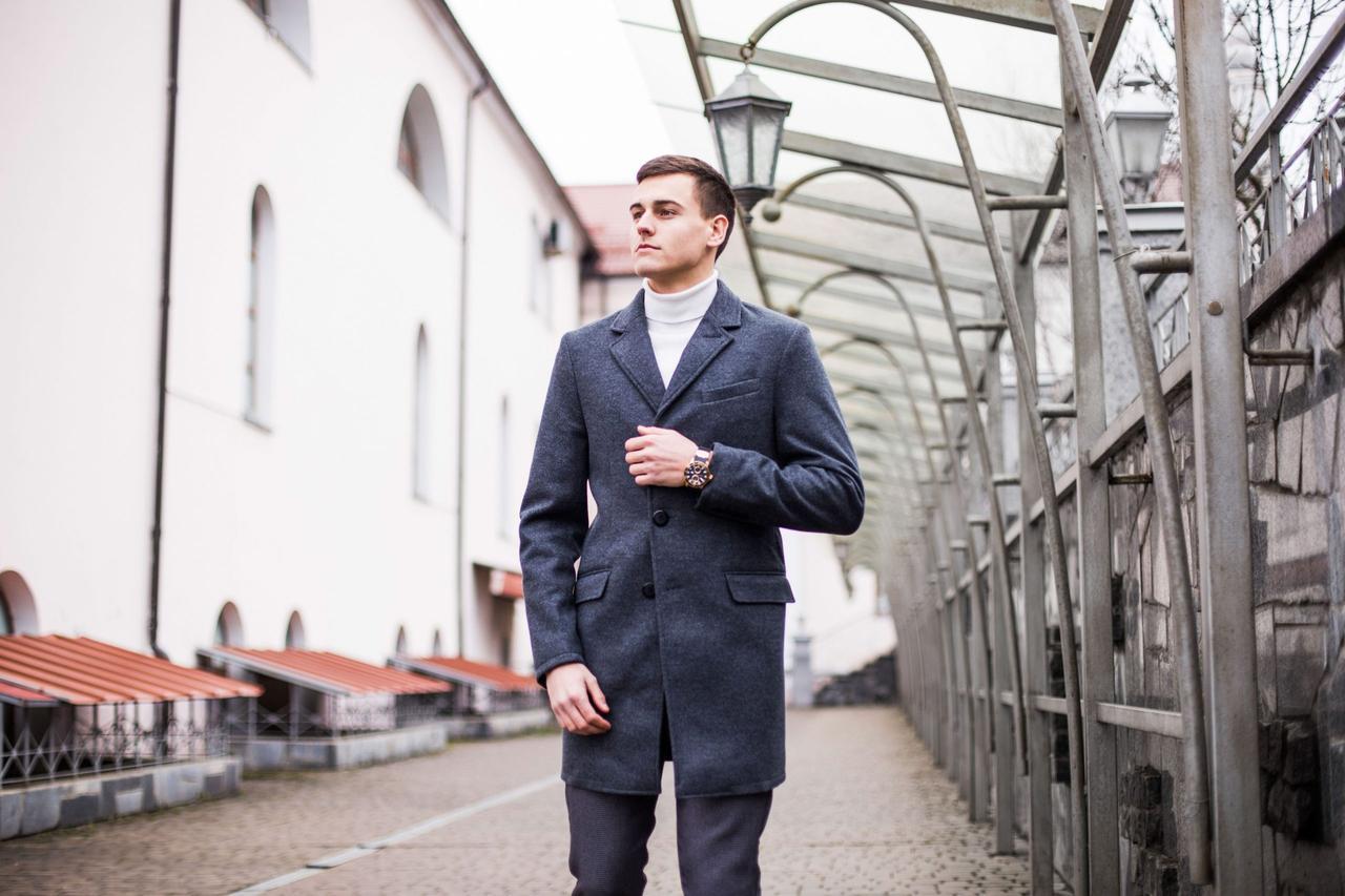 Чоловіче пальто BATYA (антрацит)