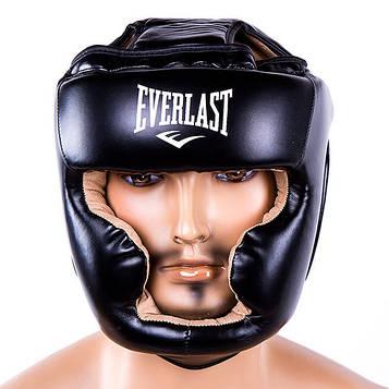 Шлем боксерский с полной защитой (закрытый) Ever Flex (черный, р-р S-XL)