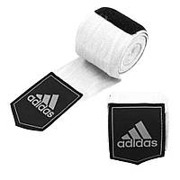 Боксерские бинты Adidas (белые, ADIBP031) из 100% слабо растягивающейся плетеной ленты без использования AZO, фото 1