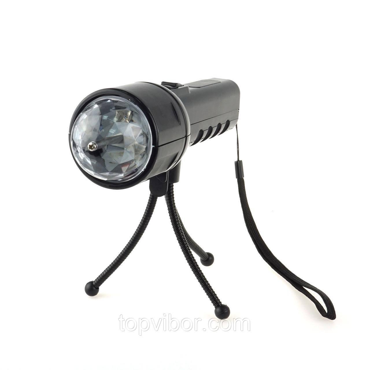 Проектор фонарик, светодиодный, со штативом, (68791), 2 в 1
