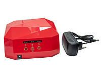 Ультрафиолетовая лампа, цвет - Красный, 36 Вт. Beauty nail CCF + LED, сушилка для ногтей, лед лампа