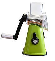 Мультислайсер, tabletop drum grater, цвет - зеленый, овощерезка ручная. Это надежный, измельчитель, фото 1