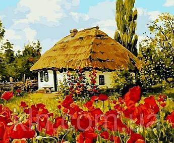 Алмазна вишивка на підрамнику Будинок в селі 40 х 50 см (арт. TN958)