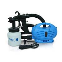 Краскораспылитель Paint Zoom Синий, электрический пульверизатор для краски краскопульт   фарборозпилювач (TI)