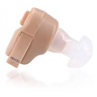 Внутриушной слуховой аппарат Axon K-80 Бежевый, усилитель слуха для пожилых (TI)