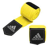 Боксерские бинты Adidas (желтые, ADIBP031) из 100% слабо растягивающейся плетеной ленты без использования AZO, фото 1