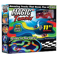 Детская игрушечная дорога Magic Tracks, 220 деталей, светящаяся + машинка, с доставкой по Украине, фото 1