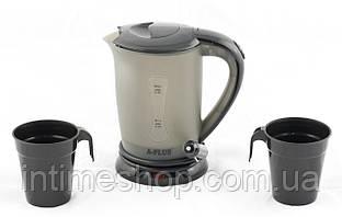 Чайник от прикуривателя 12 вольт  А-плюс ЕК-1518 Черный на 0.5 л, автомобильный чайник  (TI)
