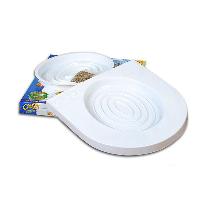 Распродажа! Набор для приучения кошек к туалету CitiKitty Cat Toilet Training Kit - накладки на унитаз