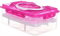 Пластиковые лотки, Цвет - розовый, контейнер для яиц, фото 1