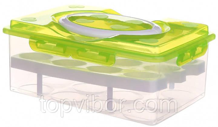 Лотки пластмассовые, Цвет - салатовый, контейнер для хранения яиц