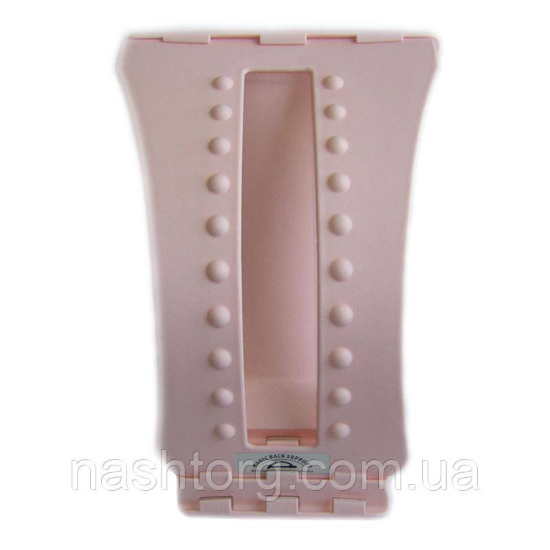 Мостик для спины Magic Back Розовый, тренажер мостик для растяжки спины | тренажер місток для спини