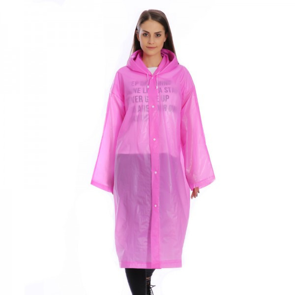 Женский дождевик / плащ от дождя, цвет - розовый, Raincoat, плащ дождевик - с доставкой по Украине (ST)