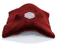 Дорожная ортопедическая подушка для путешествий Travel Pillow - Красная, с доставкой по Украине, фото 1