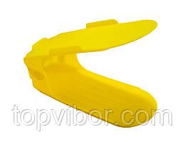 Распродажа! Двойная пластиковая стойка-подставка для хранения обуви - желтая (ACC)