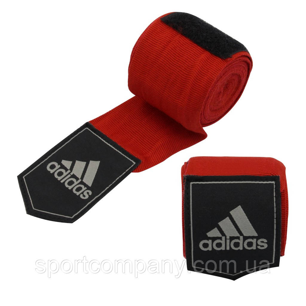 Боксерские бинты Adidas (красные, ADIBP031) из 100% слабо растягивающейся плетеной ленты без использования AZO