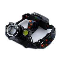 Налобный фонарь, аккумуляторный, Bailong, Police BL-878 T6 COB, универсальный, фото 1