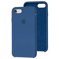 Чехол Silicone Case для IPhone 5/5S Ocean blue (синий)