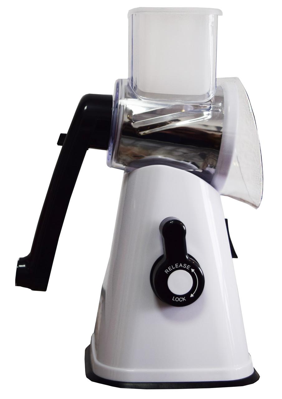 Tabletop Drum Grater, терка, овощерезка, цвет - белый, измельчитель кухонный.Это надежная, шинковка