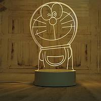 🔝 Світлодіодний світильник, дитячий нічник, кіт Дораемон, (доставка по Україні)   🎁%🚚